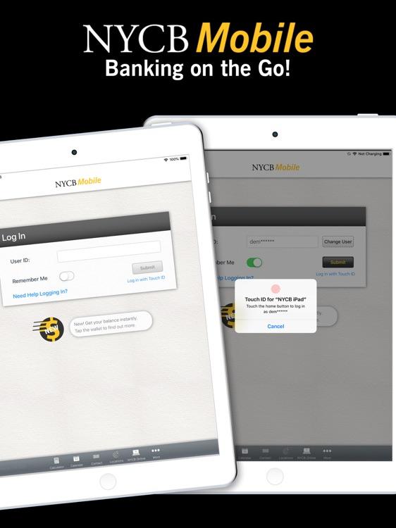 NYCB Mobile for iPad