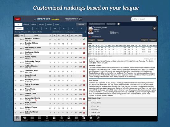 Fantasy Hockey Draft Kit '18 screenshot 6