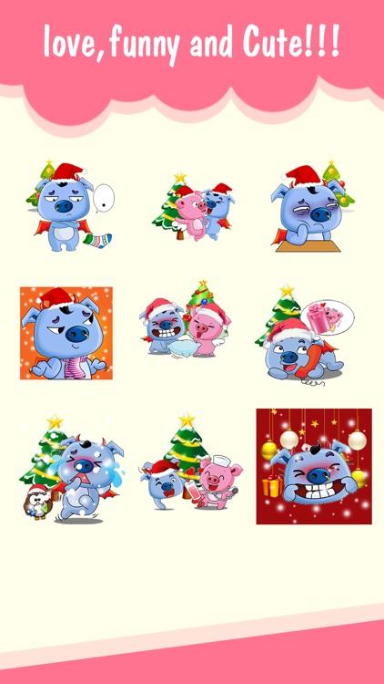 Merry Xmas Pigs Love Animated