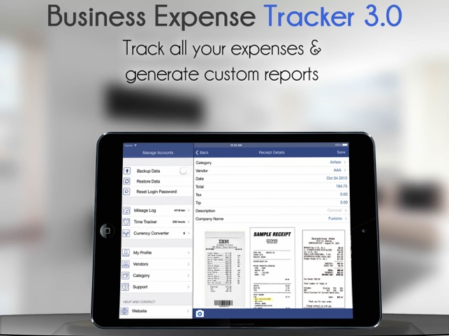 business expense tracker 3 0 with custom reports on the app store
