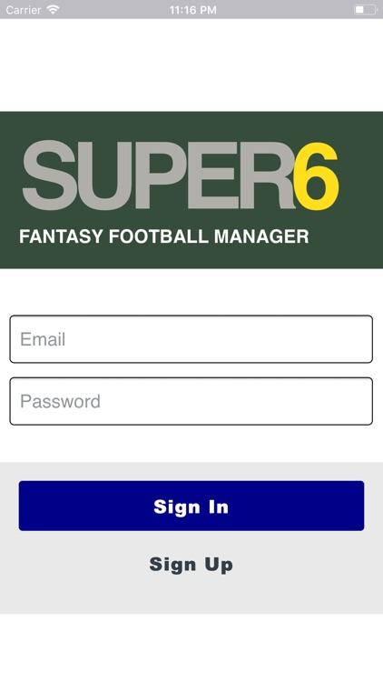 Super6 Fantasy Football