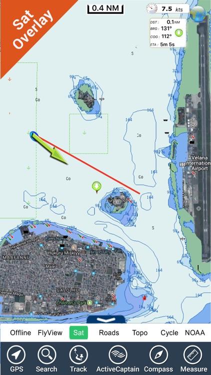 Maldives GPS Map Navigator