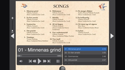 Screenshot for SWEDISH FOLK SONGS LINDSTROM in United Arab Emirates App Store
