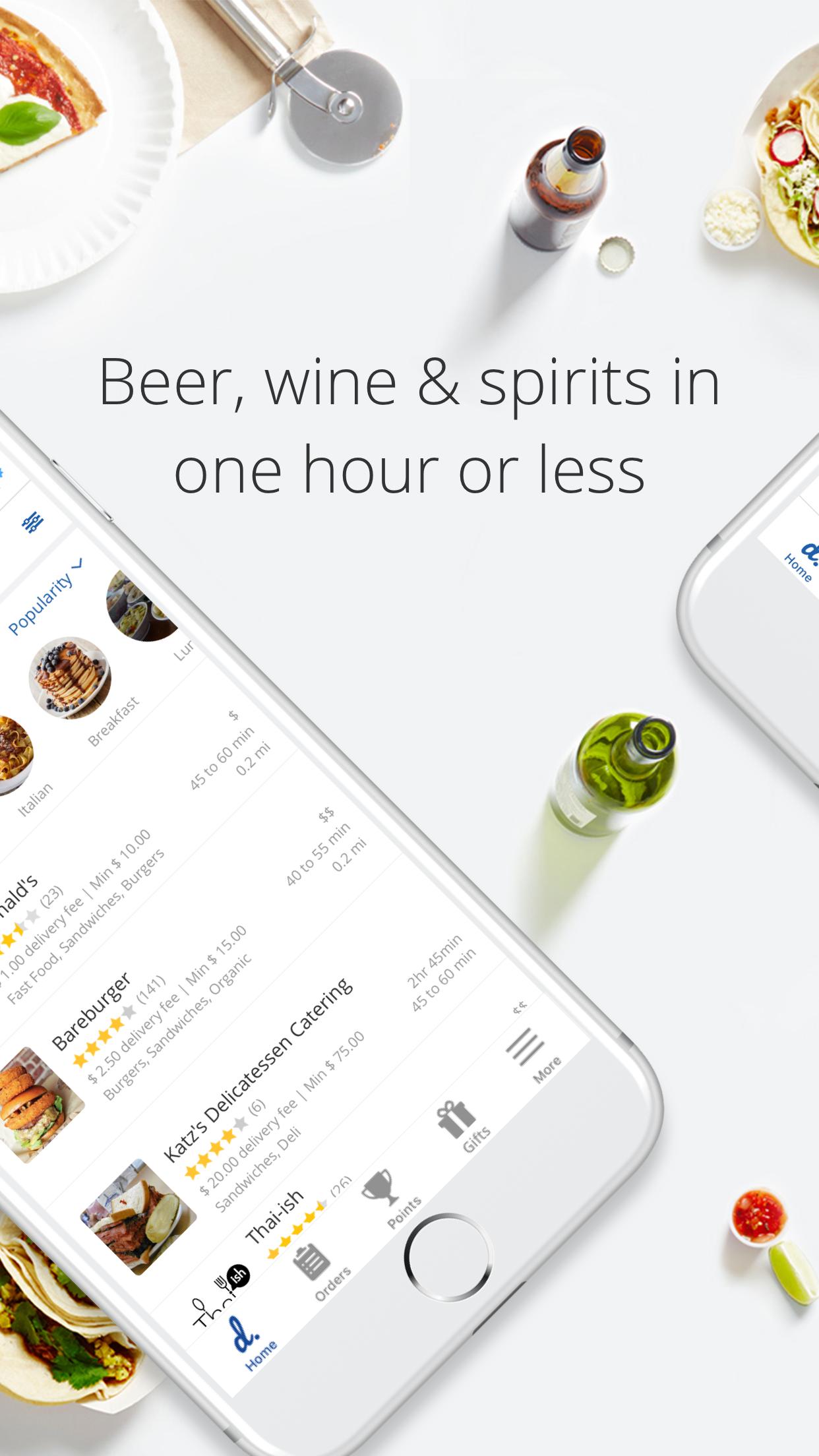 delivery.com - Food & Alcohol Screenshot
