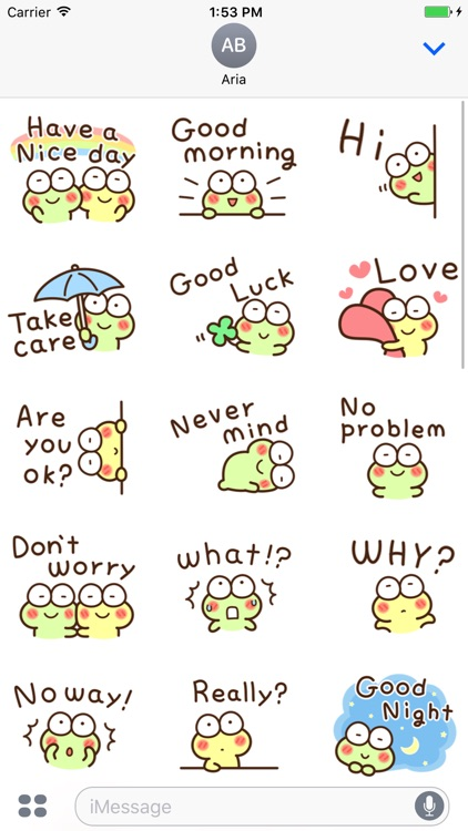 Very Cute Frog Emoji Sticker screenshot-3