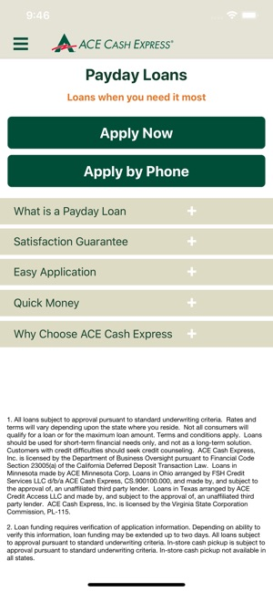 ACE Cash Express Mobile Loans on the App Store
