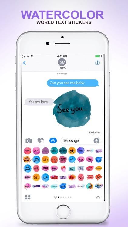 Watercolor - Text Stickers screenshot-4