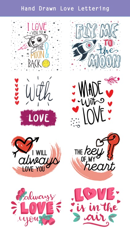 Hand Drawn Send Love Stickers screenshot-3