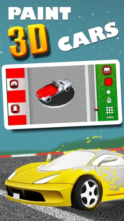 Cars coloring book -  3D drawings to paint