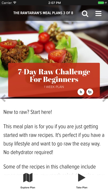 Rawtarian's Raw Meal Plans