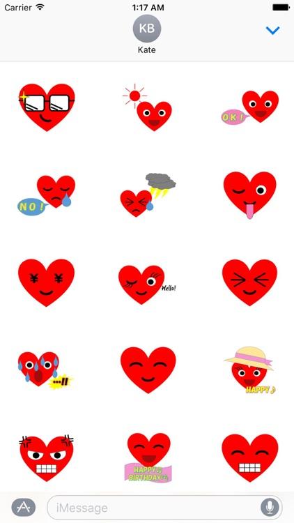 HeartMoji - Cute Heart Emoji Sticker