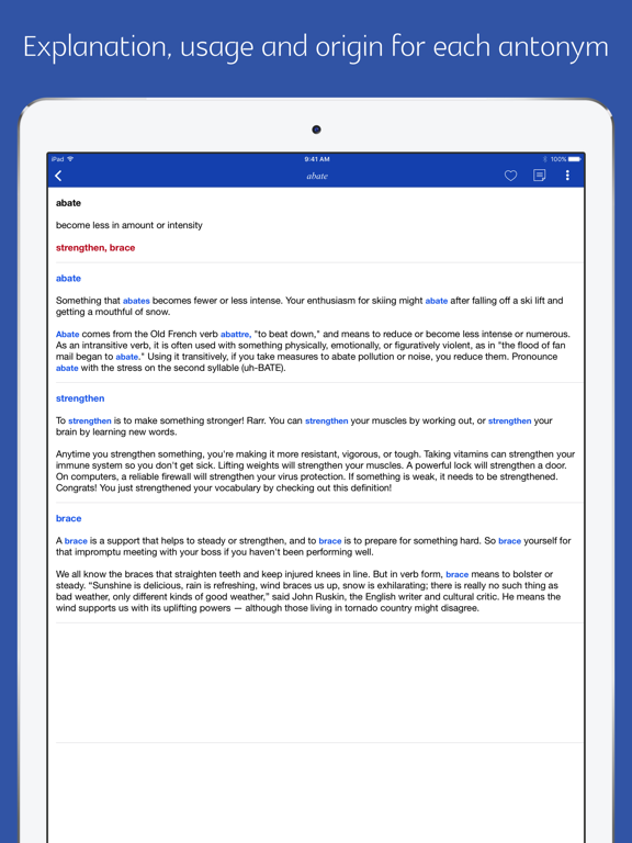 English Synonym and Antonym | App Price Drops