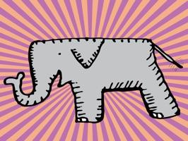 Happy Elephant Stickers