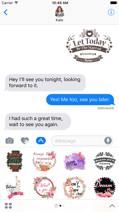 Vibes - Illustrated Stickers Pack for iMessage screenshot one