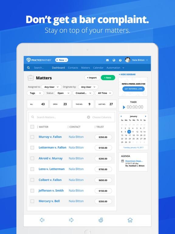 PracticePanther Legal Software screenshot