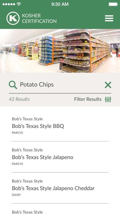OK Kosher Food Guide screenshot two