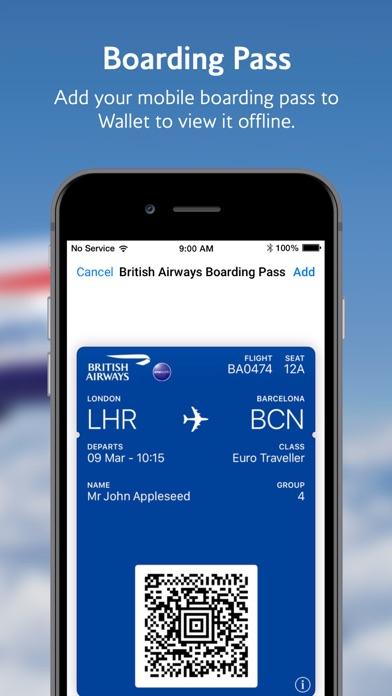 British Airways review screenshots
