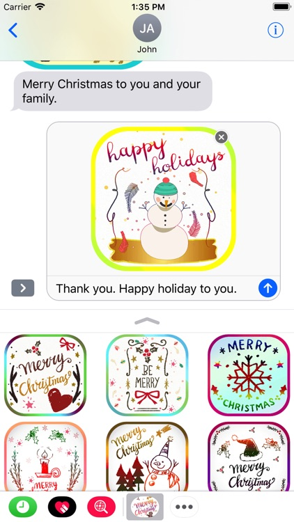 Christmas Card Stickers Pack