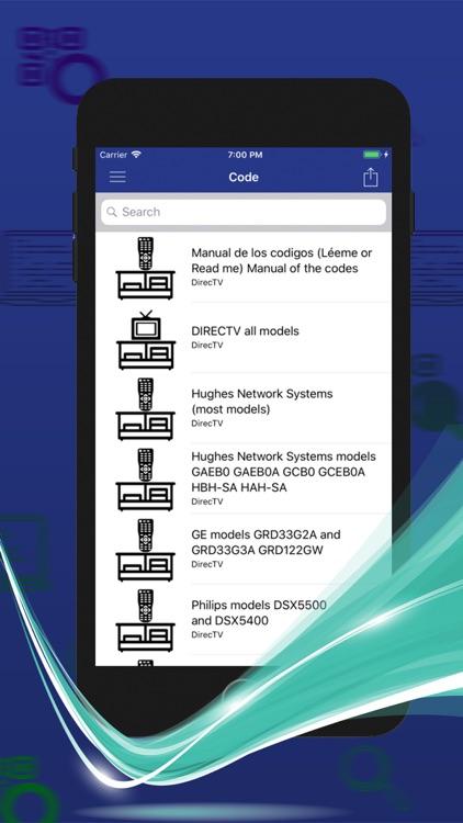 Control Code For DirecTV