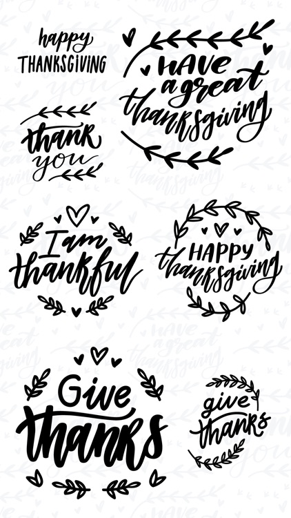 Thanksgiving Calligraphy!