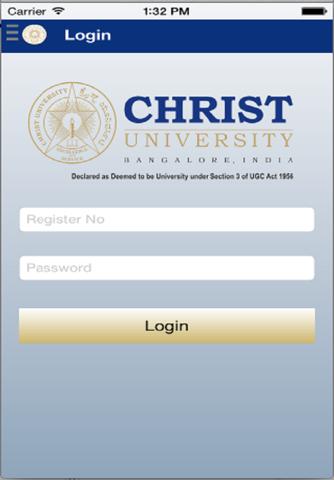 Christ University Student App - náhled