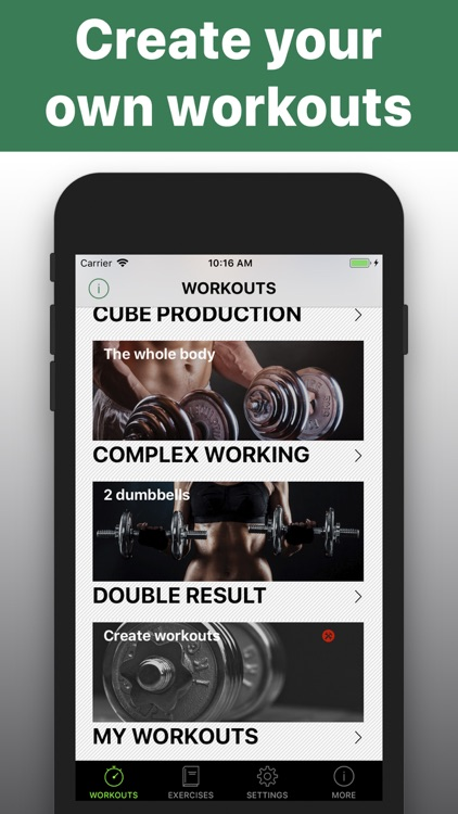 Dumbbell workout HIIT trainer screenshot-4
