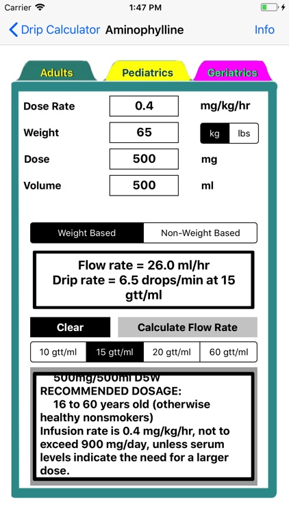 Drip Calculator