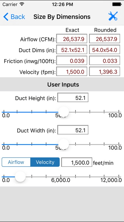 ASHRAE HVAC Duct Sizer screenshot-2