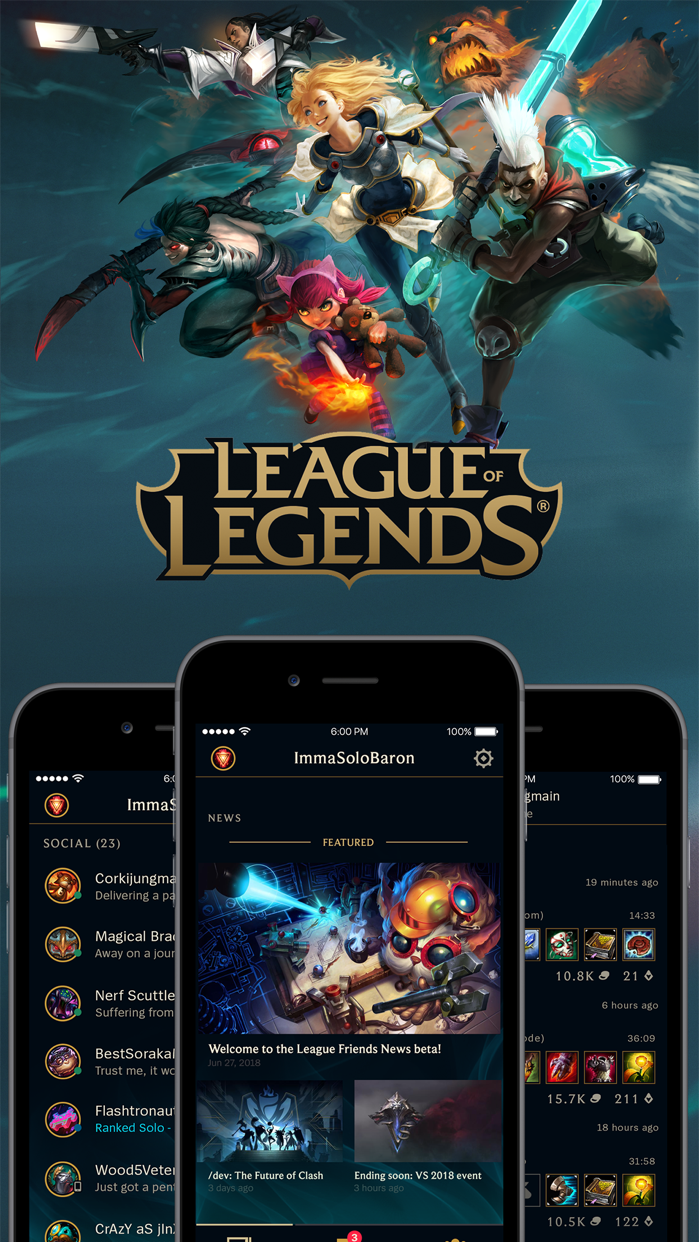 League of Legends Friends Screenshot