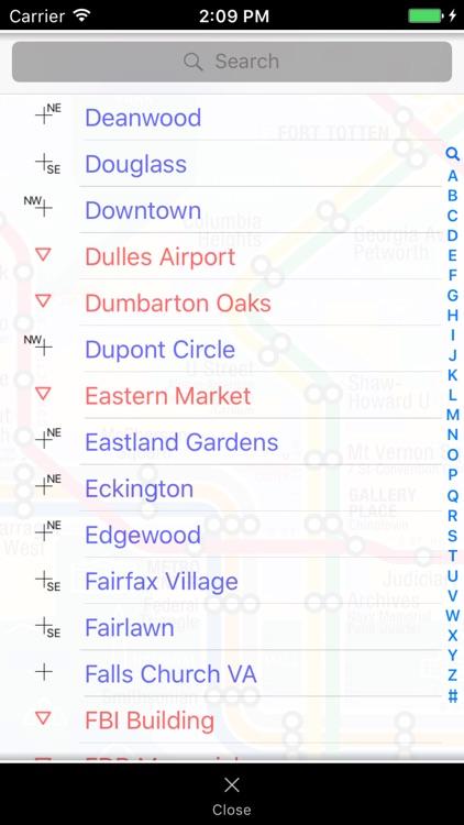 KickMap Washington DC Metro screenshot-3