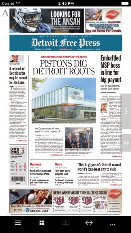 Detroit Free Press Print