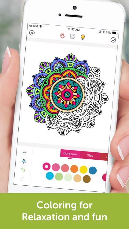 Coloring Book: Mandala, Pixel screenshot-0