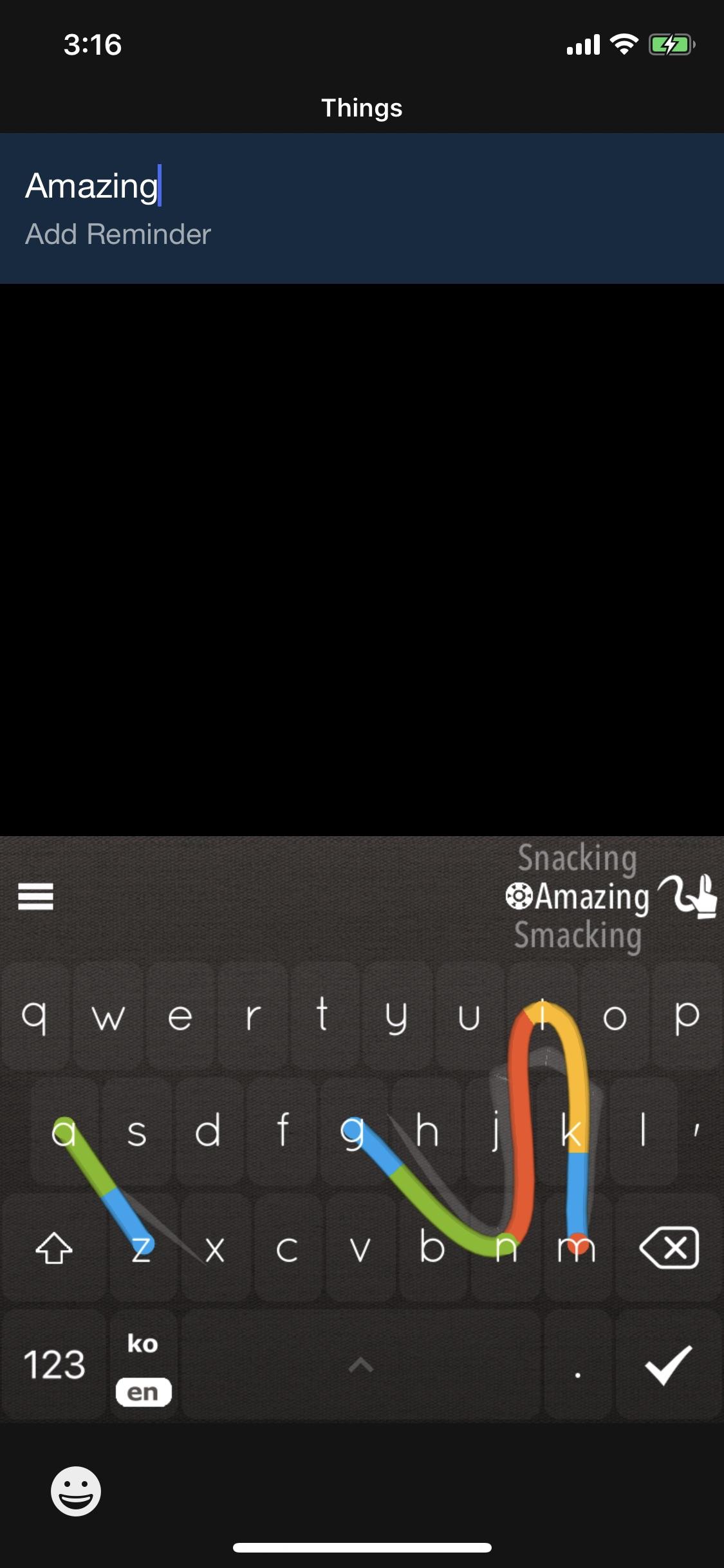 Screenshot do app Nintype