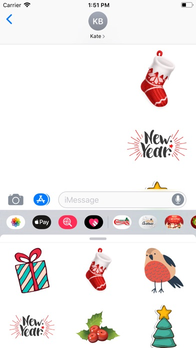 Screenshot for Christmas Stickers! Countdown in United States App Store