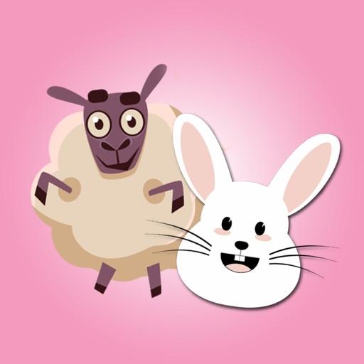 Sheep & Bunny Stickers