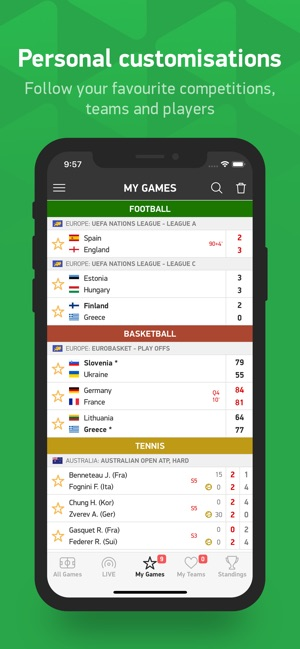 flashscore pour iphone