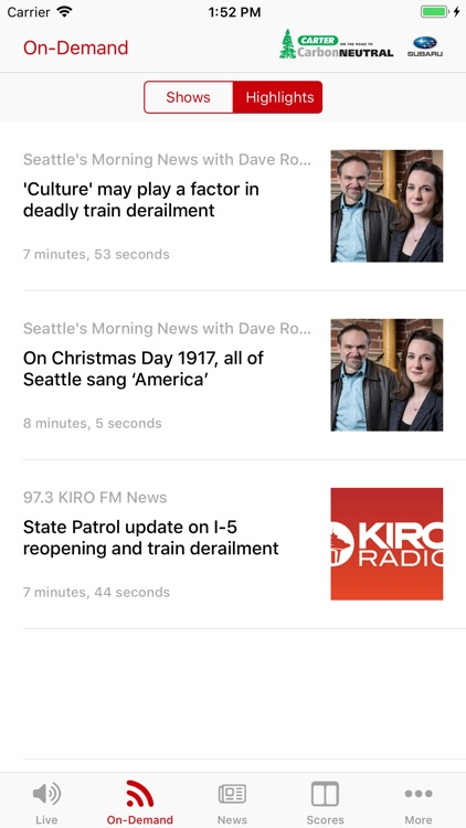 KIRO Radio 97.3 FM screenshot-2