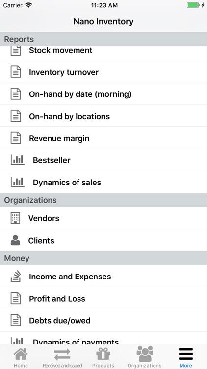 Nano Inventory screenshot-6