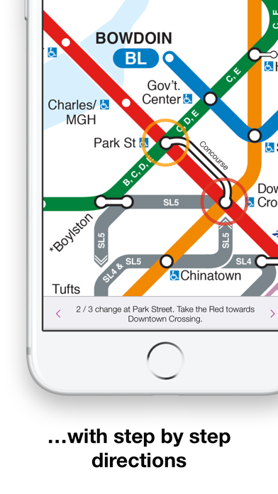 Boston Subway Map With Hotels.Boston T Map Mbta Subway Map By Mapway Limited Ios United States