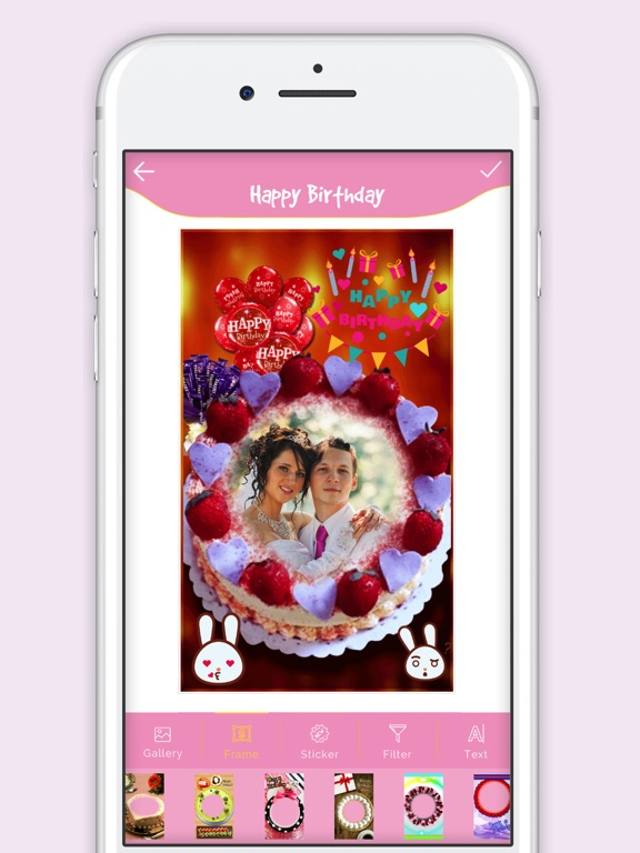 Screenshot 1 For Happy Birthday Cake Frame