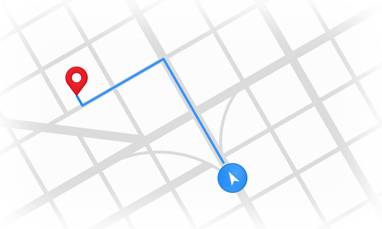Locate places near me with Google Maps