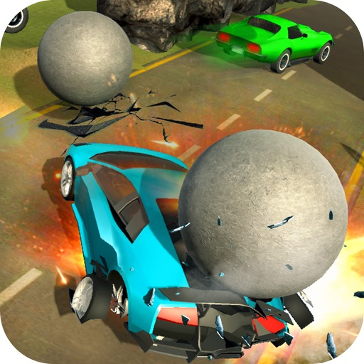 Rolling Balls Car Crash Race