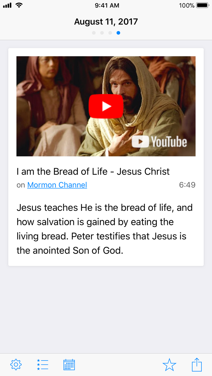 LDS Daily Verse Screenshot