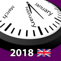 2018 UK Calendar AdFree