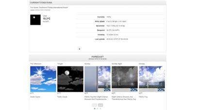 Florida Beaches & Weather Screenshot