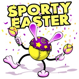 Easter Softball Stickers