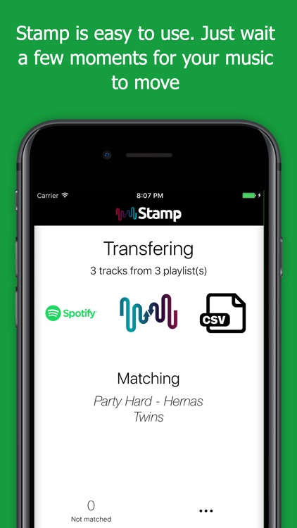 STAMP Transfer Music Playlists screenshot-3