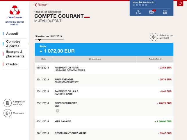 Credit Mutuel Pour Ipad Dans L App Store