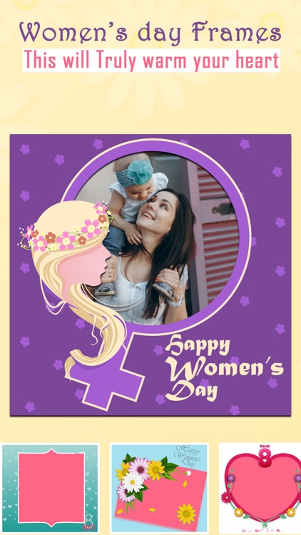 Women's Day Photo Frame Wishes
