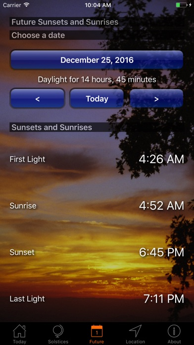 Screenshot #8 for Sunset and Sunrise Times